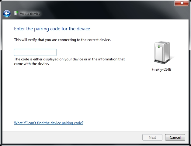 Add a Device Enter Pairing Code